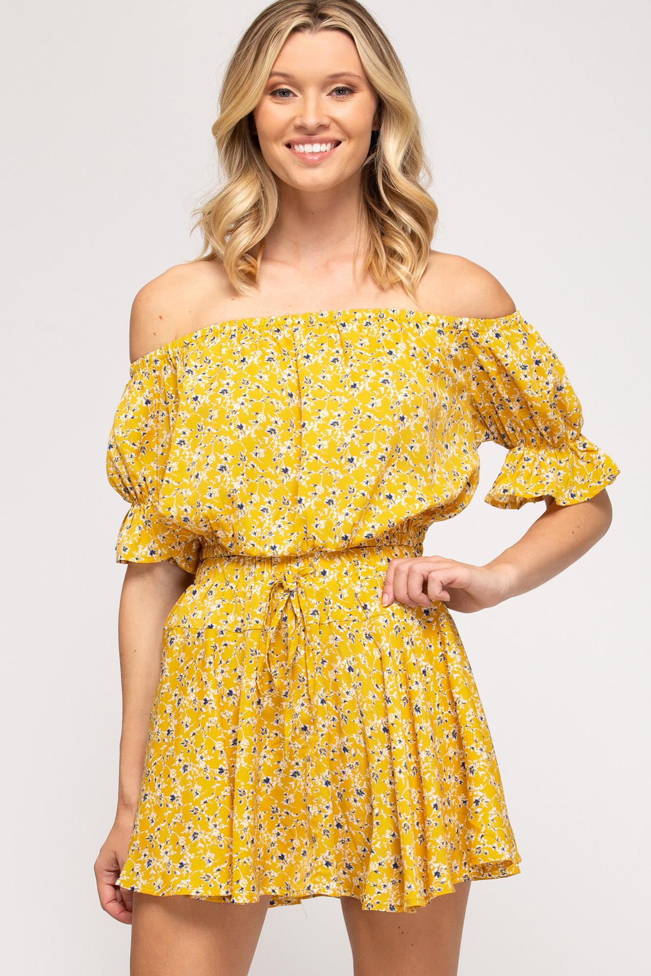 Dance In The Rain Sunflower Shorts