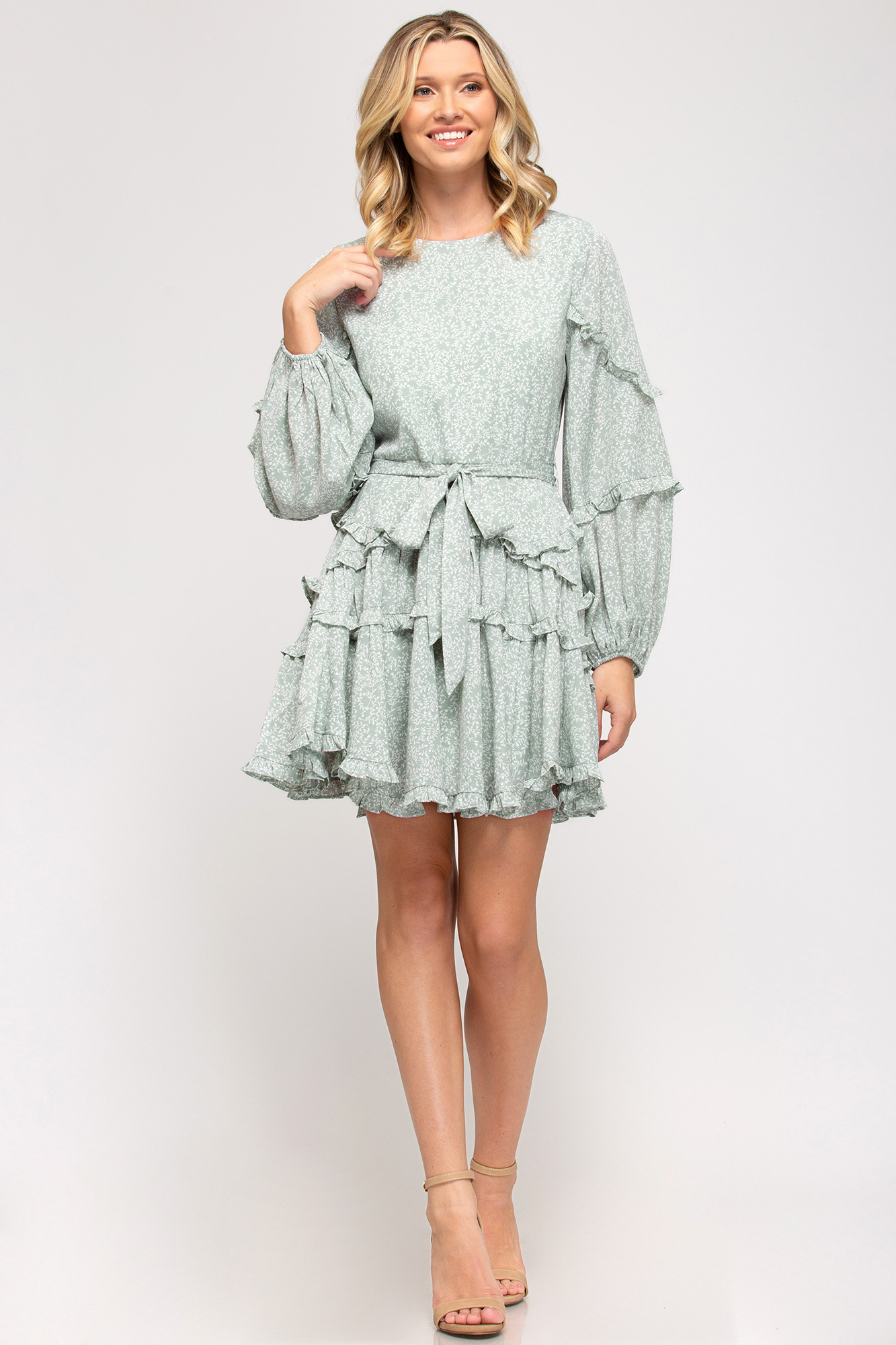 My Sunday Best Sage Dress
