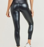 Glossy Leather Highwaist Leggings Black