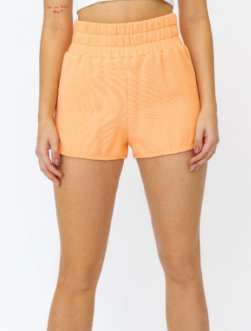 Neon Buzz Apricot Shorts