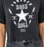 Forever Rock n Roll Crop Tee