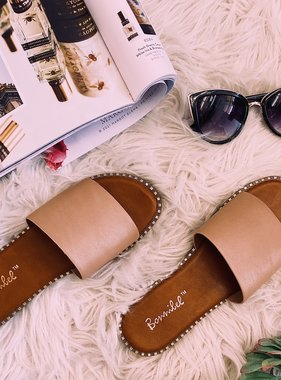 Lizzie Natural Slipon Sandal