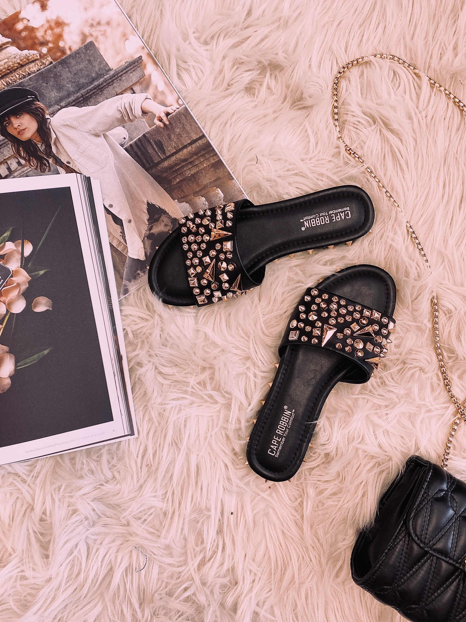 Trisha Studded Black Slipon