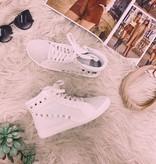Kira White Studded Sneaker