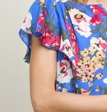 Bloom With Grace Blue Floral Top