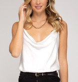 New Girl On The Block Cowl Neck Bodysuit