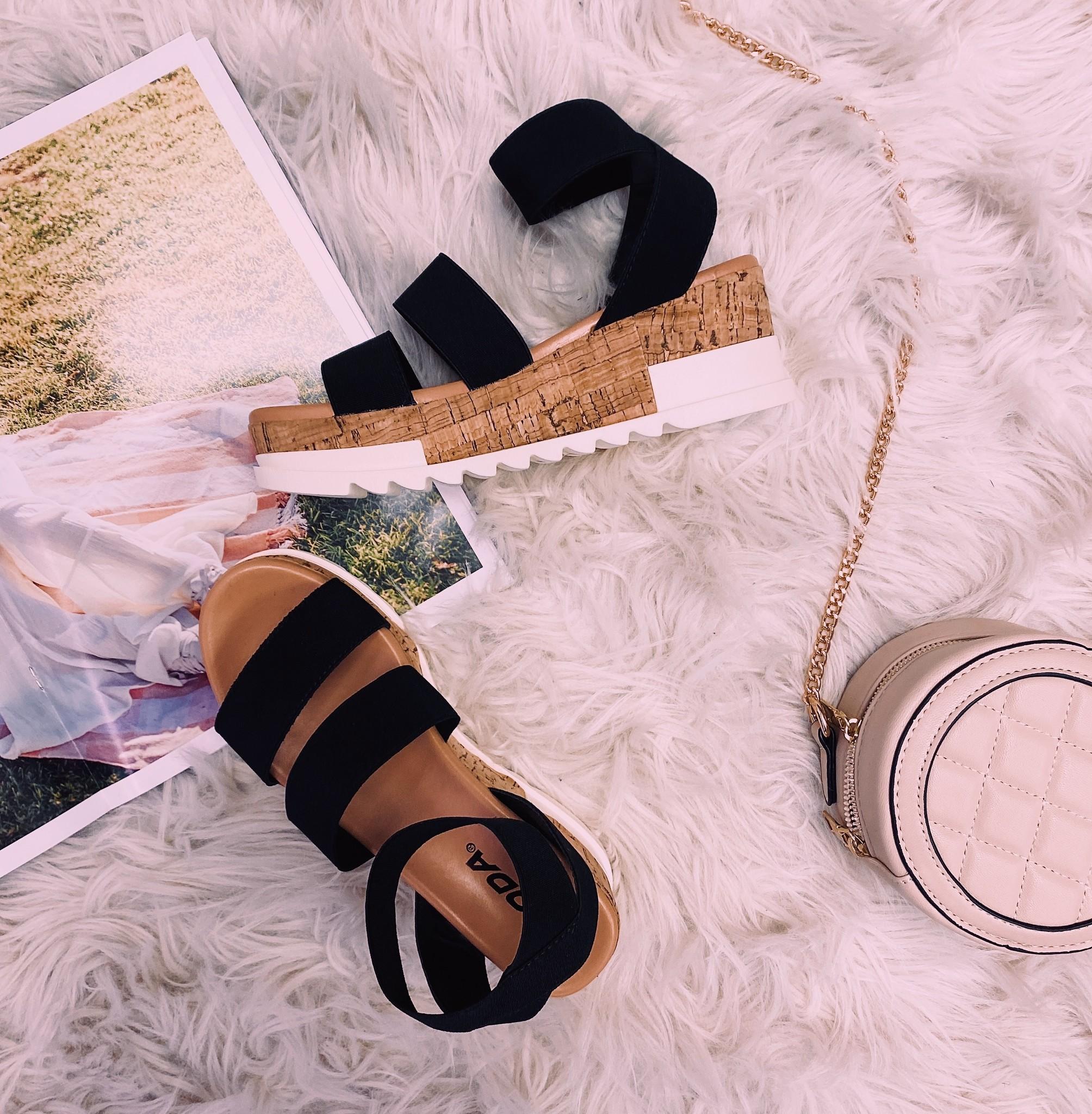 Madyson Black Sandal