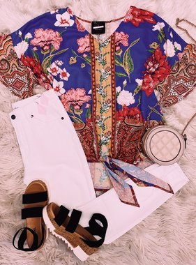 Bloom With Grace Periwinkle Top