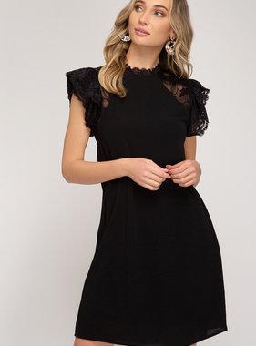 She's Beauty & She's Grace Black Lace Dress