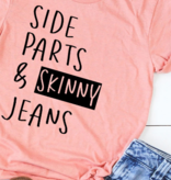 Side Part & Skinny Jeans T-Shirt