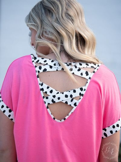 Standout In Style Neon Pink Top
