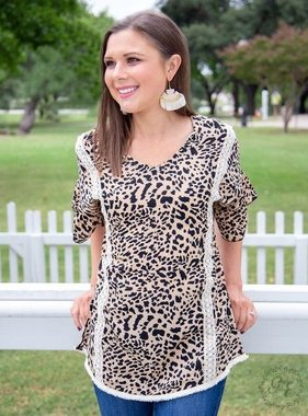Laced In Leopard SS Top