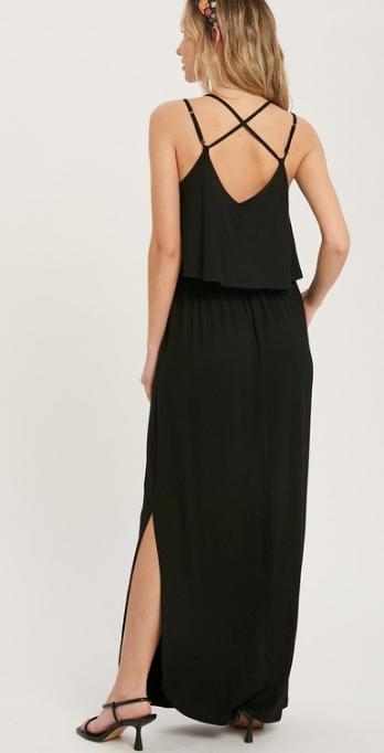 Don't Double Cross Me Black Dress
