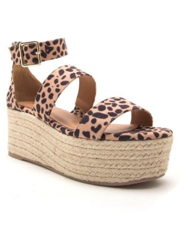 Cher Tan Leopard Platform Sandal