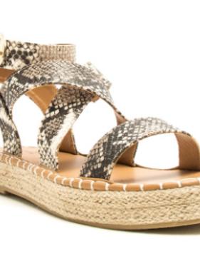 Walking through Summertime Brown Platform Sandal