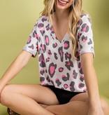 Hot Mom Leopard/Pink Top