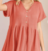 Living In The Moment Babydoll Top