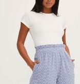 Blue Polka Dot shorts w/ Eyelet detail