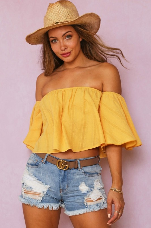 Summer Breeze Off the shoulder top