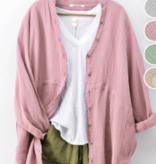 Causual Summer Rolled sleeve Top