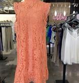 Georgia Peach Lace Dress