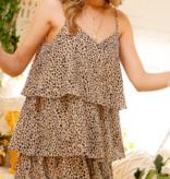 Living In Leopard Ruffle Dress