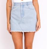 Lt. Denim Basic Mini Skirt