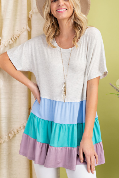 Colorful Days Babydoll Top