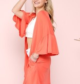 Coral Me Up Kimono
