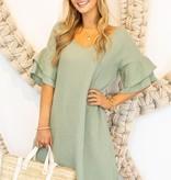 Sunny & Warm Saturdays Sage Dress