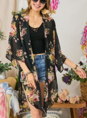 Floral Days & Summer Waves Kimono