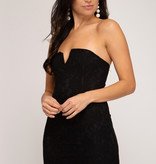 Perfect Timing Strapless Black Dress
