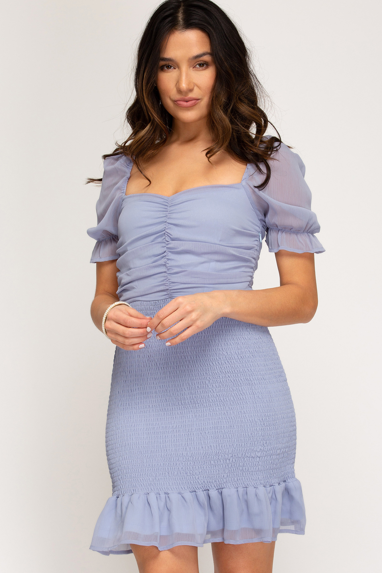 Oh Baby Blue Smocked Dress