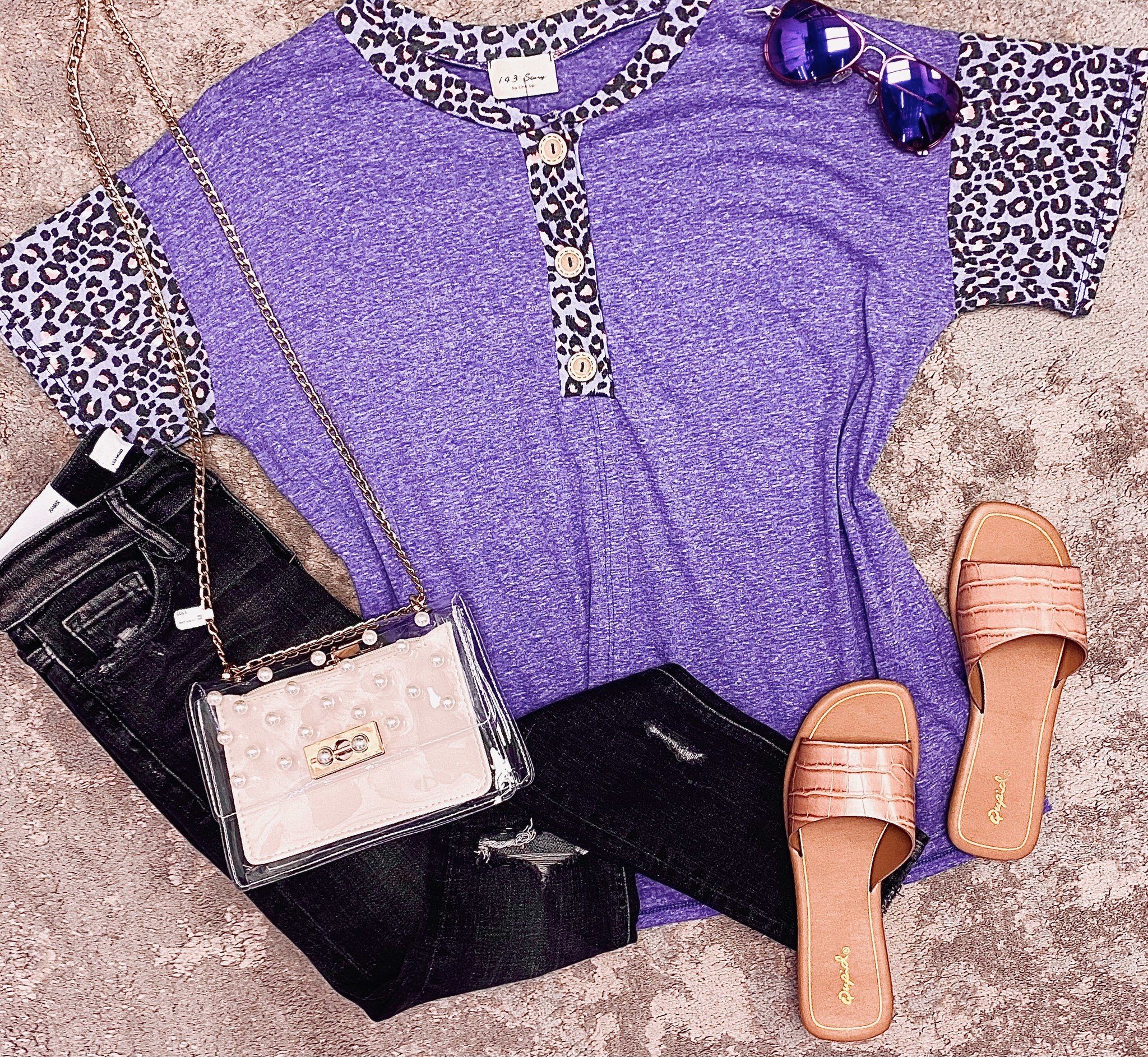 Give It Your All Faux Button Top