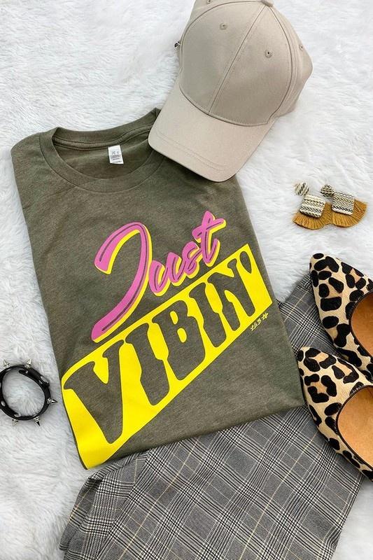Just Vibin' Olive T-Shirt
