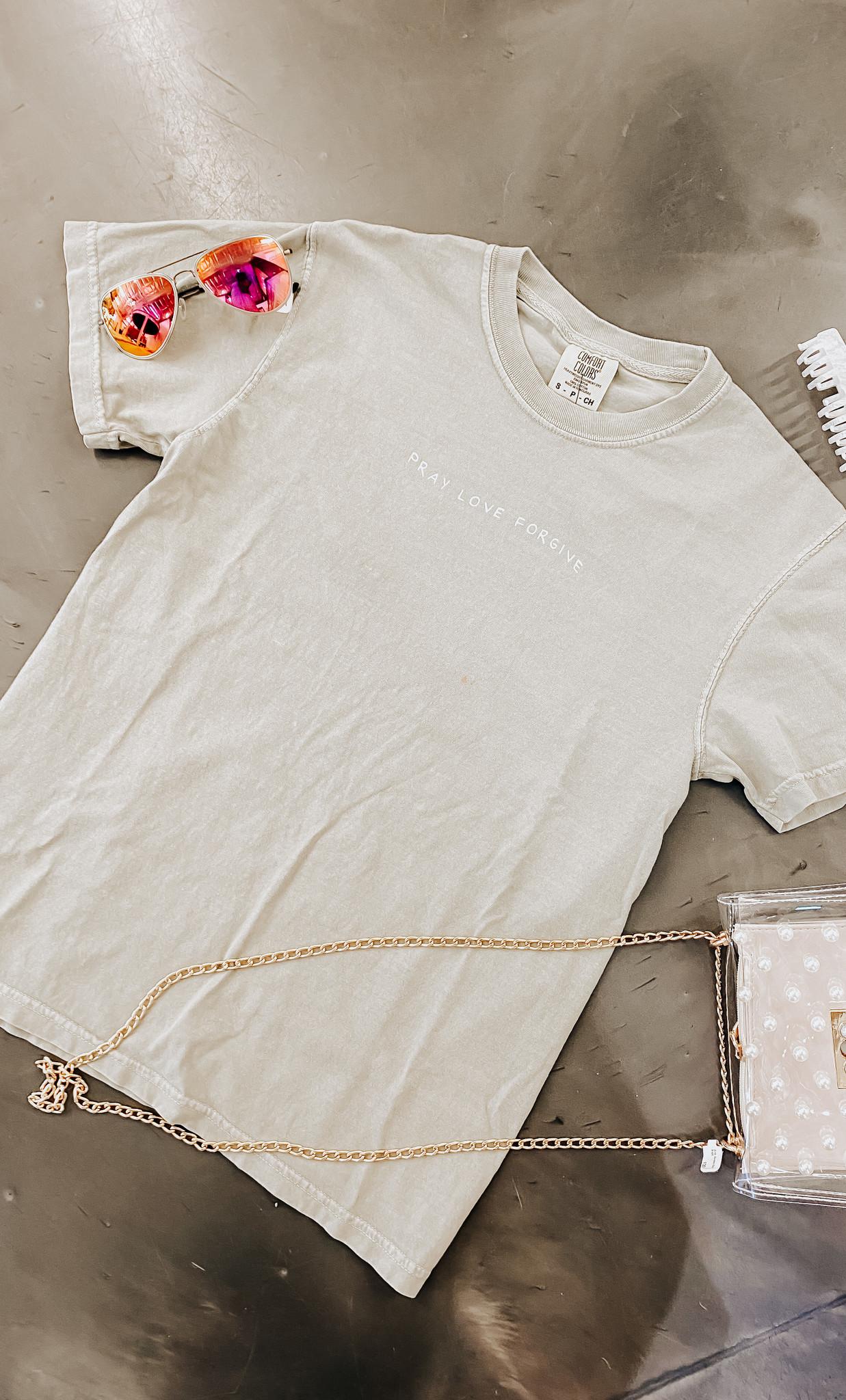 Pray Love Forgive Sandstone T-Shirt