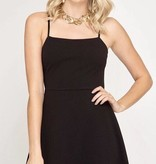 Black Strap Simple Dress- SALE ITEM