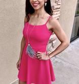 Bright Pink Sleeveless Dress