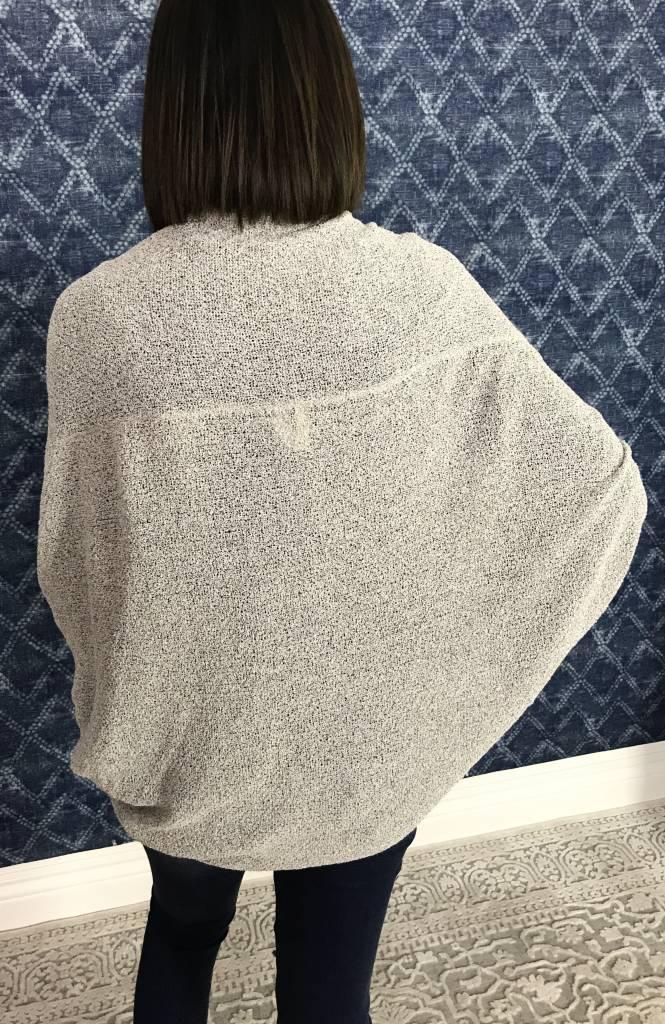 Light Grey Dolman Sleeve Cardigan