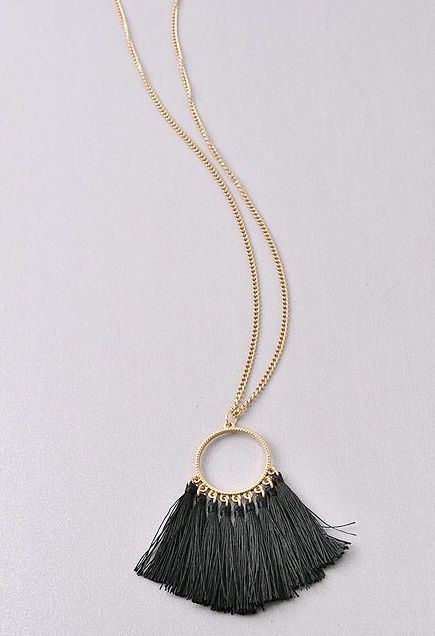 Game Day Tassel Necklace- More Colors
