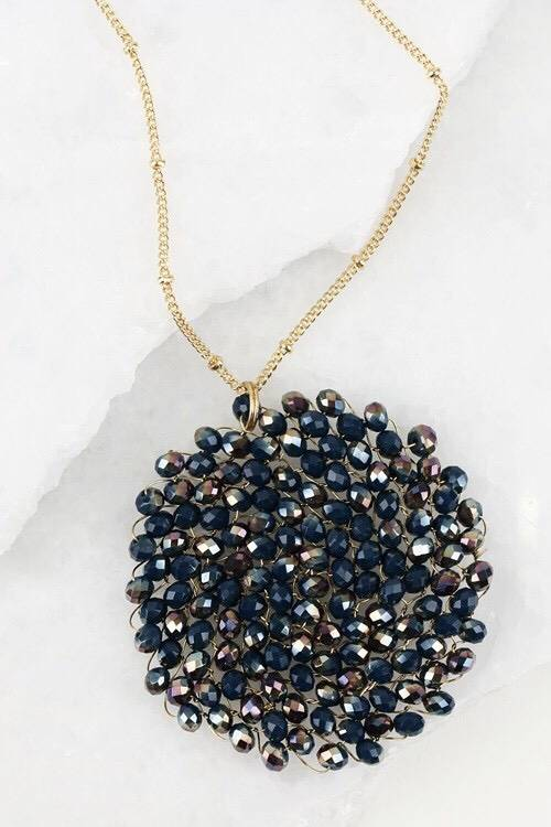 Samantha Crystal Necklace- More Colors