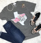 Heather Grey Texas Floral T-Shirt