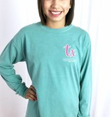Teal Watercolor Texas Long Sleeve T-Shirt-SALE ITEM