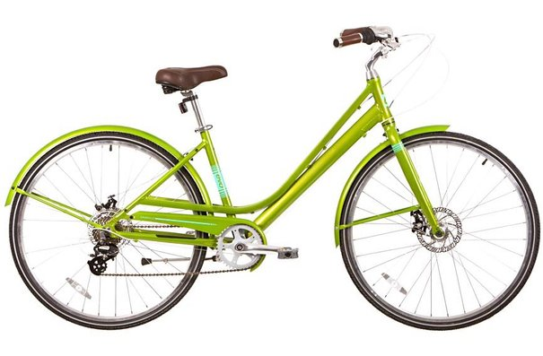 Evo Granville Step-Through City Bicycle, Summertime Lime, 17""
