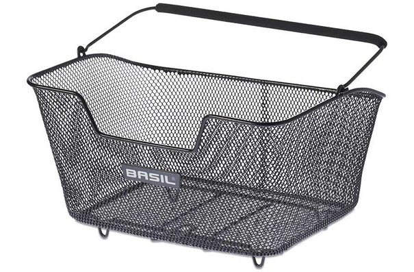 Basil Base, Rear basket, Medium, Black