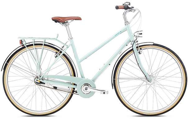 Breezer Downtown 7+ ST, Gloss Mint Blue, S (46cm)