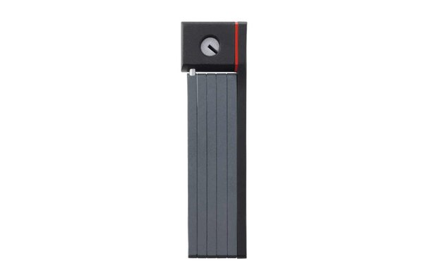 Abus Ugrip Bordo 5700/80, Cadenas pliable avec serrure à clé, Noir