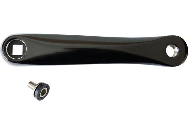 Prowheel Bras de pédalier Carré, Noir
