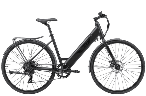 Reid Blacktop 1.0, Step-Through (ST), E-bike, Commuter Edition, Black, S (42cm)