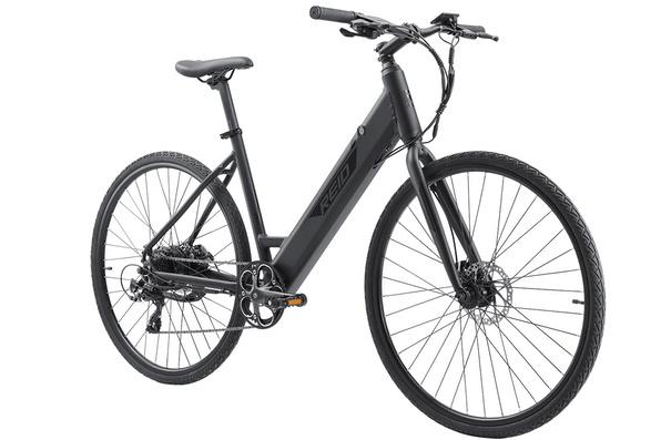 Reid Blacktop 1.0, Step-Through (ST), E-bike, Commuter Edition, Black, S (42cm)